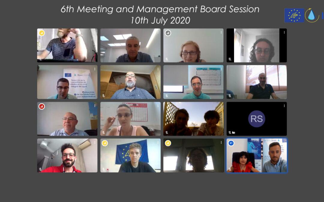 6º Encuentro y Reunión de Seguimiento del proyecto, (Videoconferencia). 10 Julio 2020.